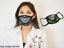 Многоразовая защитная маска от пыли и холода челюсть скелета