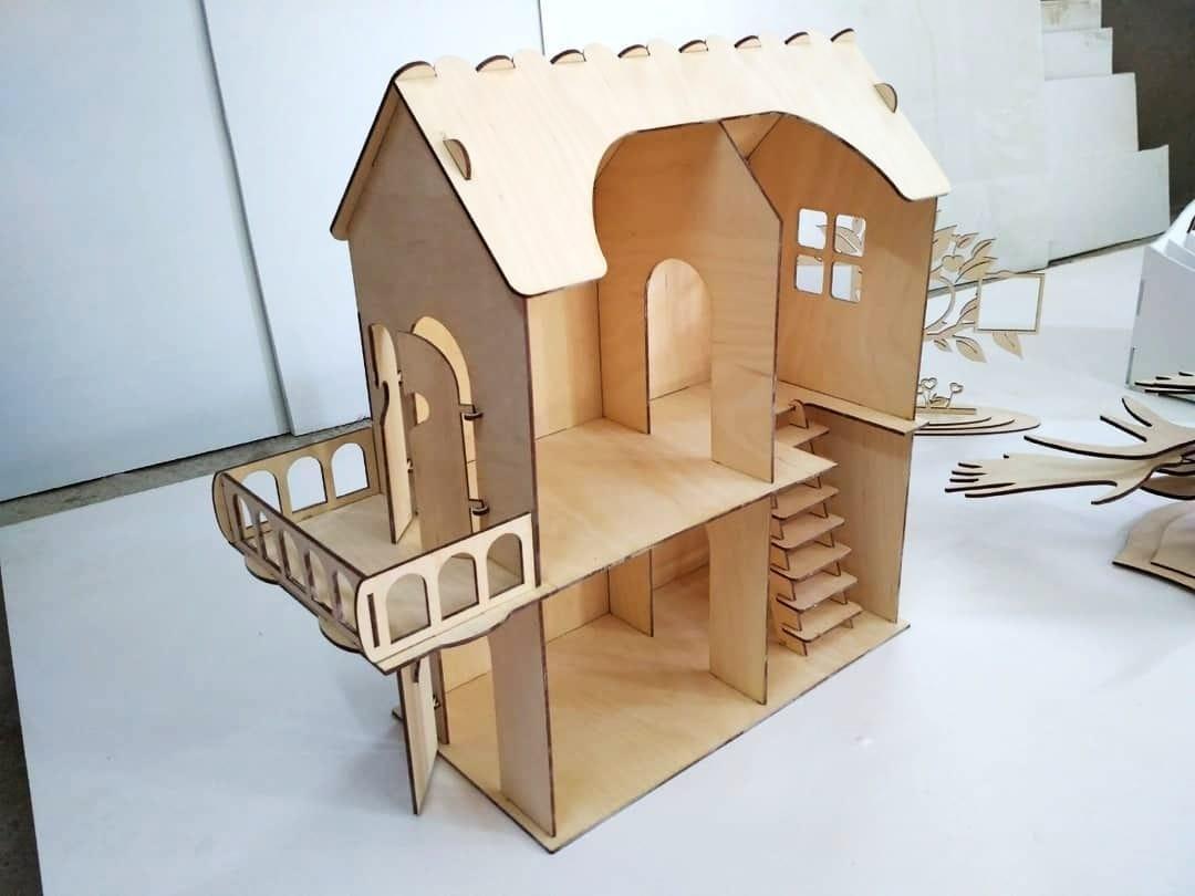 Кукольный эко домик для маленьких кукол (без мебели)