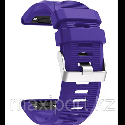 Ремешок силиконовый фиолетовый 26мм для Garmin fenix 5x, fenix 5x plus, fenix 6x, фото 2