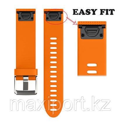 Ремешок силиконовый оранжевый 26мм для Garmin fenix 5x, fenix 5x plus, fenix 6x, фото 2
