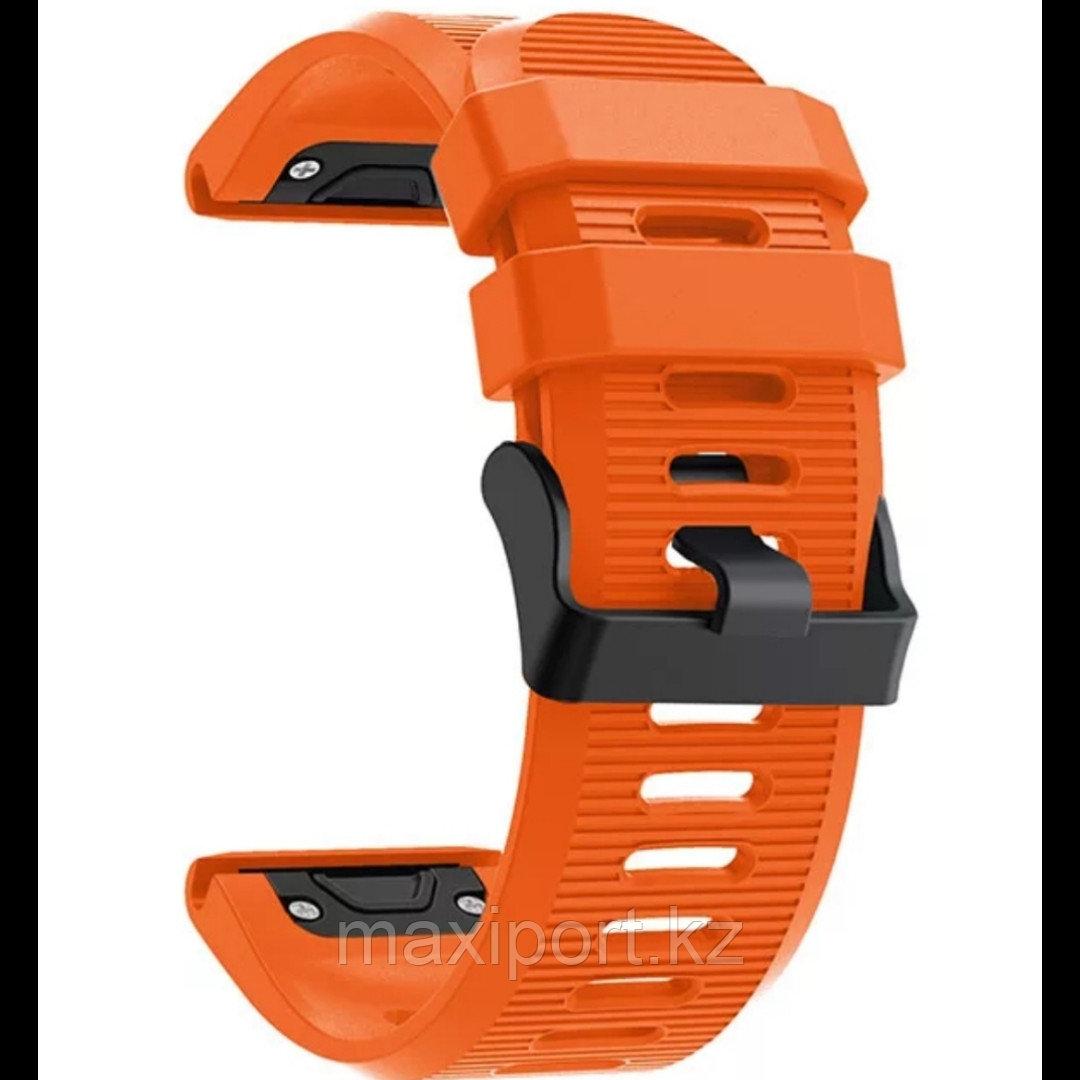 Ремешок силиконовый оранжевый 26мм для Garmin fenix 5x, fenix 5x plus, fenix 6x