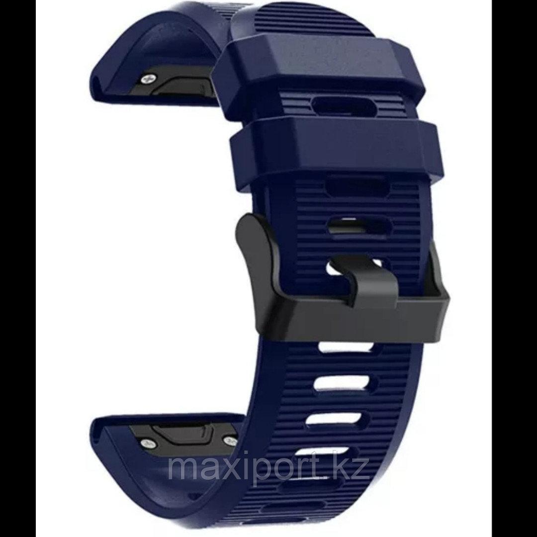 Ремешок силиконовый темно-синий 26мм для Garmin fenix 5x, fenix 5x plus, fenix6x