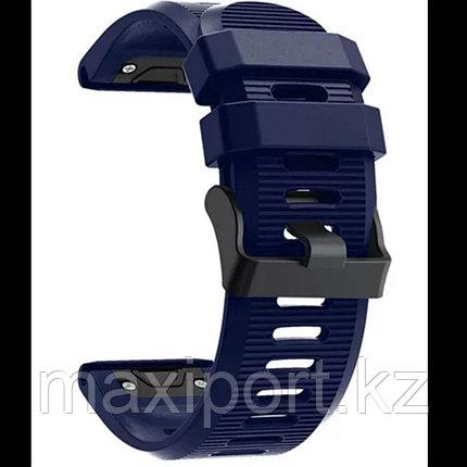Ремешок силиконовый темно-синий 26мм для Garmin fenix 5x, fenix 5x plus, fenix6x, фото 2