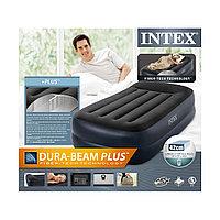 Надувной матрас-кровать Intex со встроенным насосом 191 х 99 х 42 см