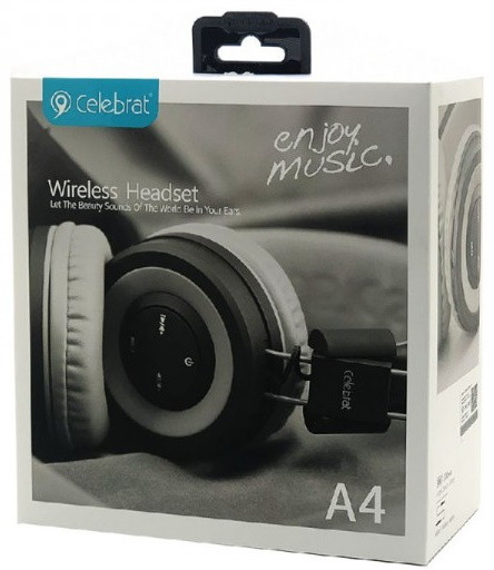 Bluetooth наушники Celebrat A4 Gray