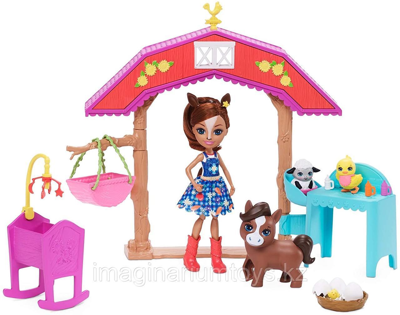 Энчантималс игровой набор с куклой лошадкой и аксессуарами