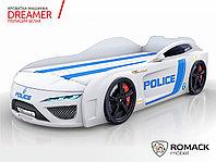Кровать-машина Dreamer Полиция Белый