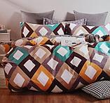 Люксовый двуспальный постельный комплект, фото 4