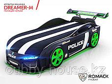 Кровать-машина Romack Dreamer-M Полиция Черная, фото 3