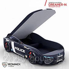 Кровать-машина Romack Dreamer-M Полиция Черная, фото 2