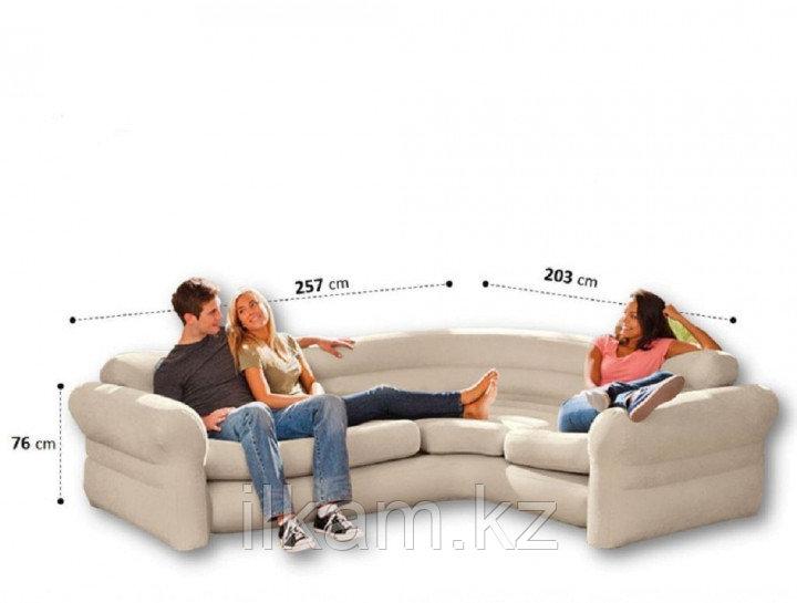 Диван надувной угловой  Intex 257 x 203 x 76 см