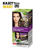 7569 Стойкая натуральная крем-краска для волос «Народные рецепты» Тон Горький Шоколад 120мл