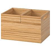 ДРАГАН Набор коробок,3шт, бамбук, 23x17x14 см