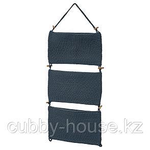 НОРДРЭНА Подвесной модуль д/хранения, синий, 35x90 см, фото 2
