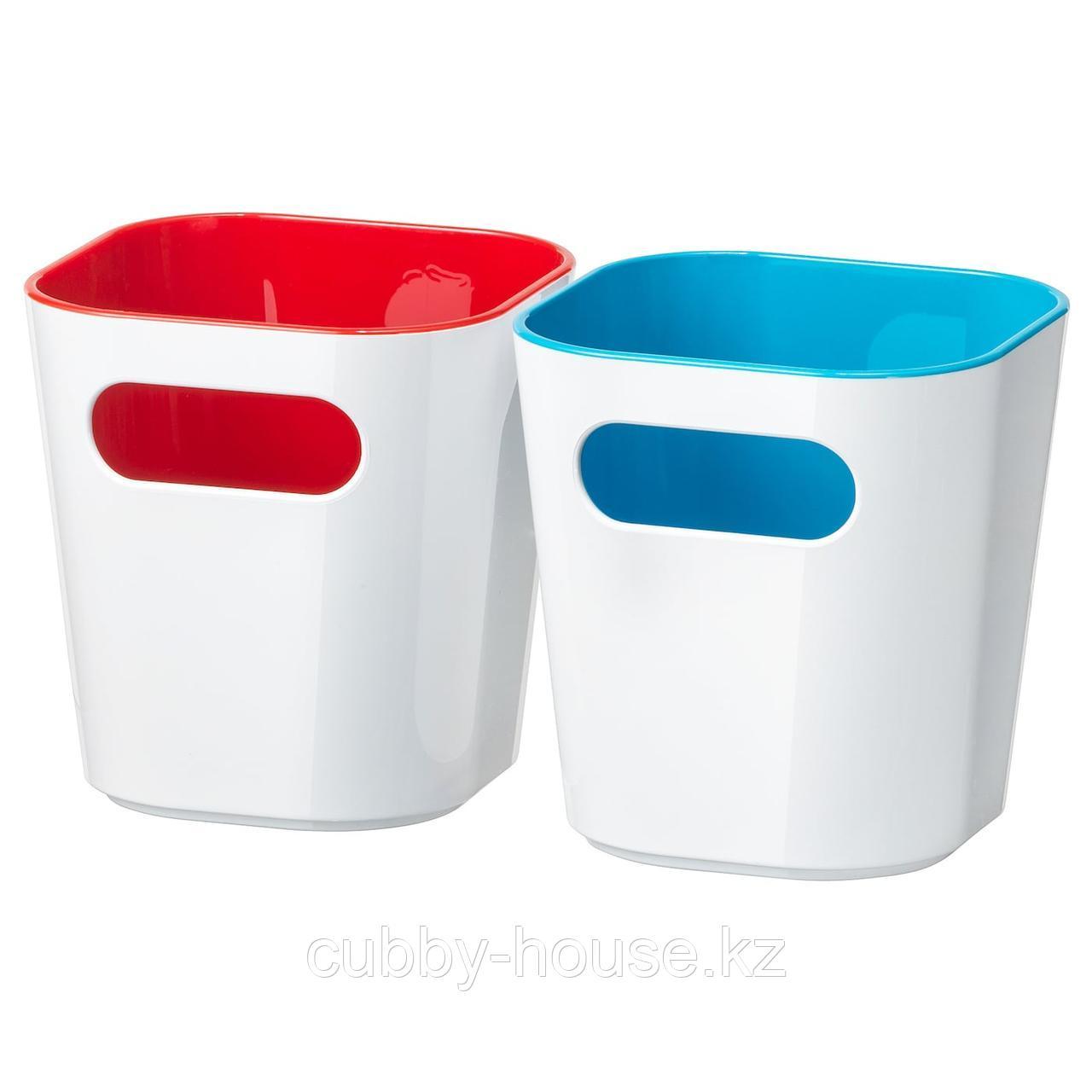 ГЕССАН Контейнер, белый, 10x10x10 см