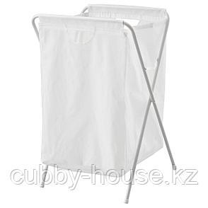 ЭЛЛЬ Мешок для белья на опоре, белый, 70 л, фото 2