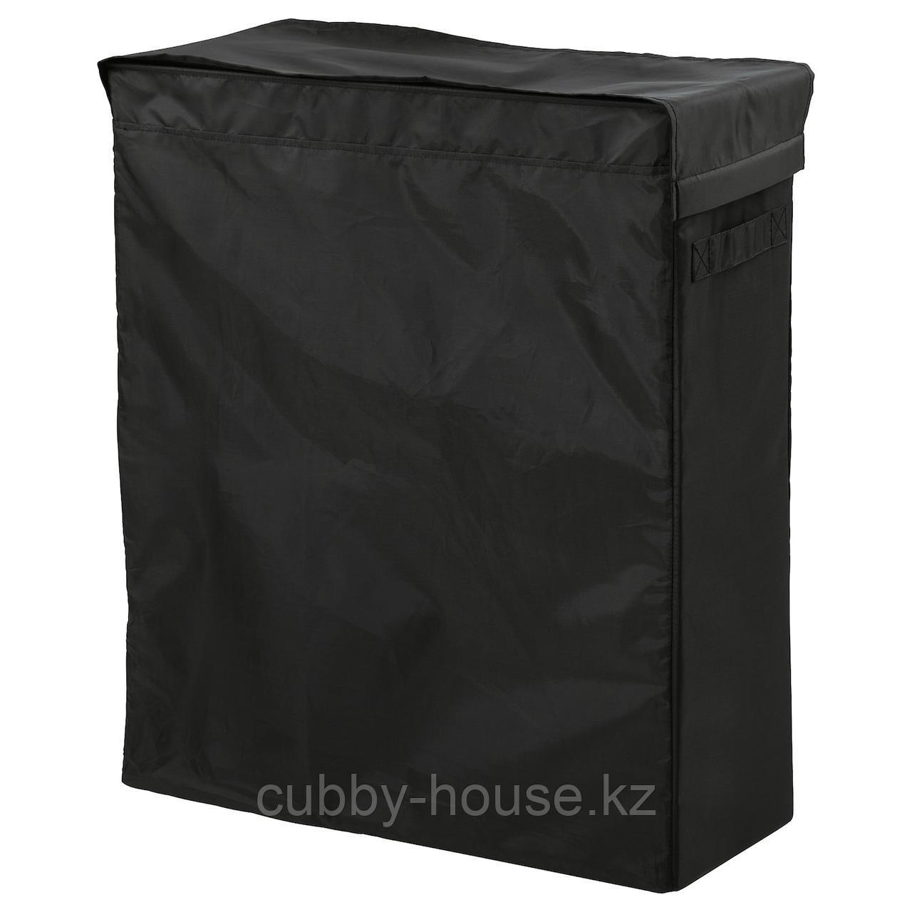 СКУББ Корзина для белья на опоре, черный, 80 л