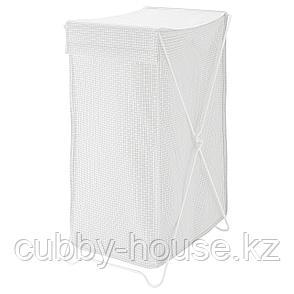 ТОРКИС Корзина для белья, белый/серый, 90 л, фото 2