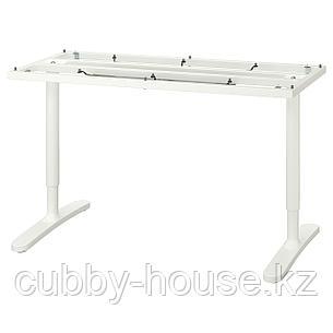 БЕКАНТ Подстолье для столешницы, белый, 140x60 см, фото 2