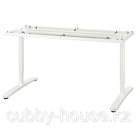БЕКАНТ Подстолье для столешницы, белый, 160x80 см, фото 2