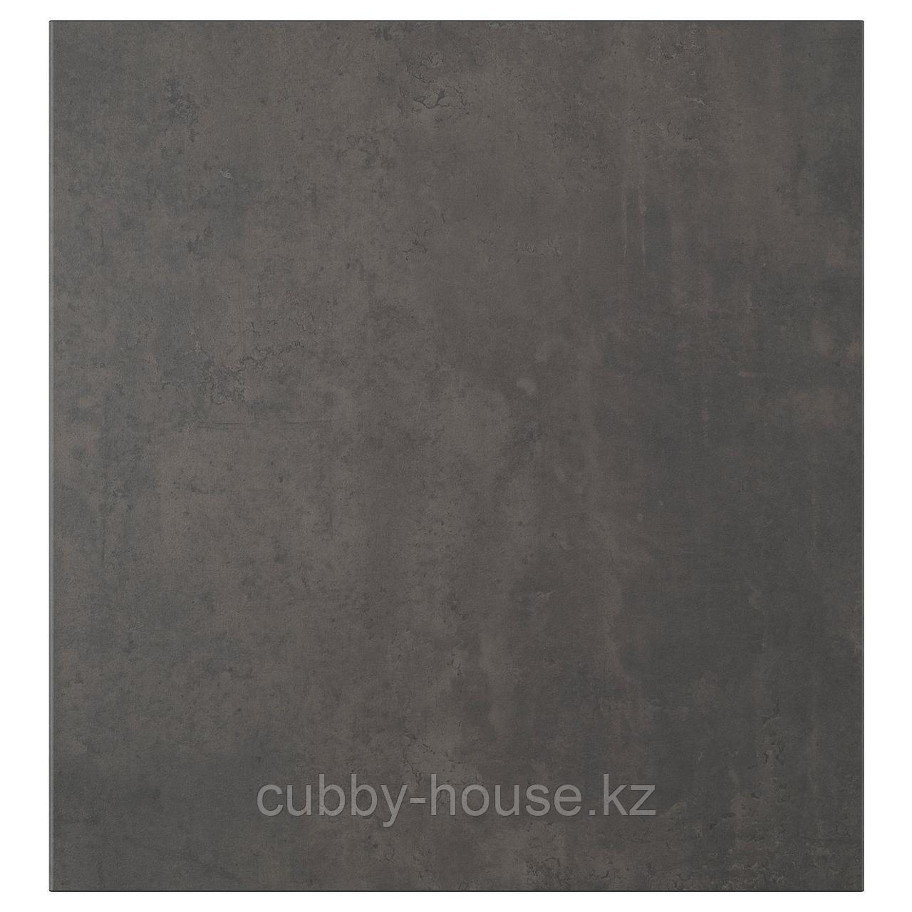 КЭЛЛЬВИКЕН Дверь, темно-серый под бетон, 60x64 см