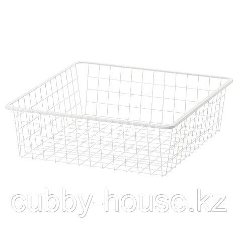 ЙОНАКСЕЛЬ Проволочная корзина, белый, 50x51x15 см, фото 2