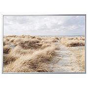 БЬЁРКСТА Картина с рамой, Песчаные дюны, цвет алюминия, 200x140 см
