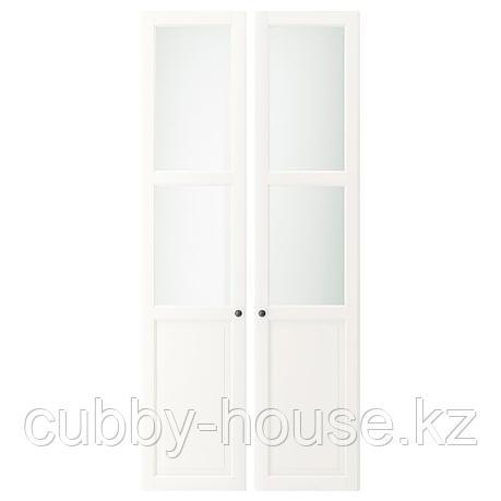 ЛИАТОРП Панельн/стеклян дверца, белый, 44x198 см, фото 2