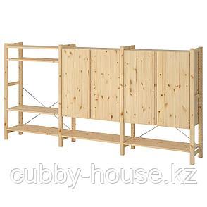 ИВАР 3 секции/полки/шкаф, сосна, 259x30x124 см, фото 2