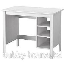 БРУСАЛИ Письменный стол, белый, 90x52 см, фото 2