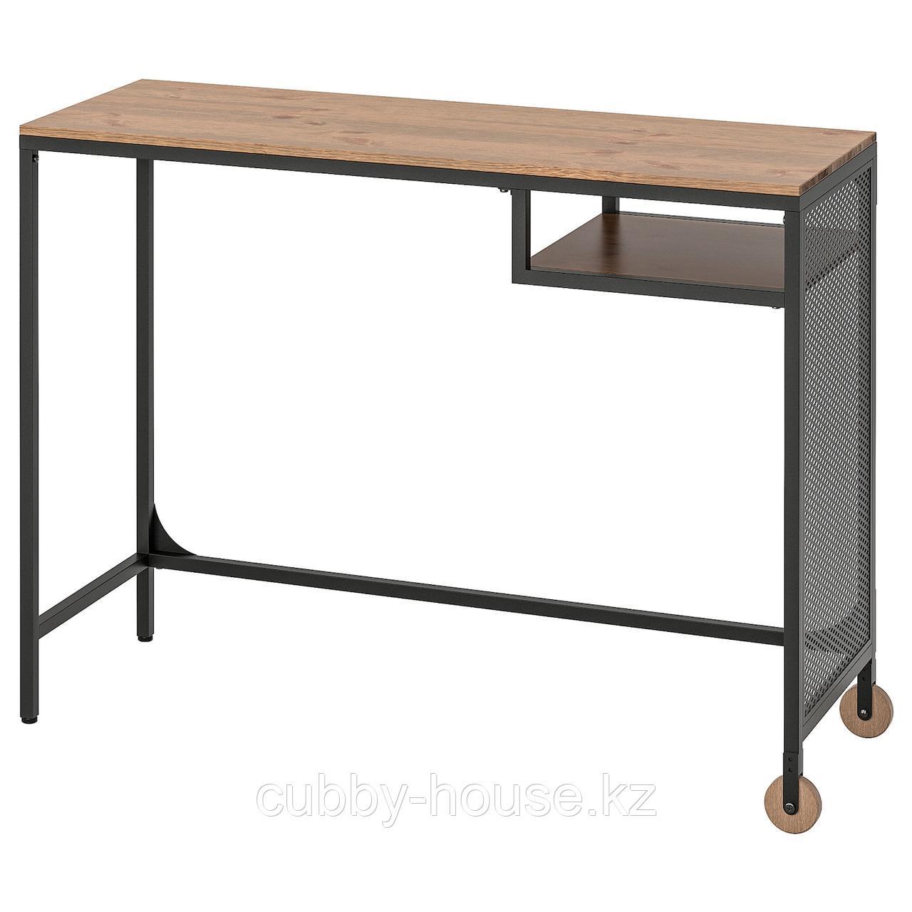 ФЬЕЛЛЬБО Стол д/ноутбука, черный, 100x36 см
