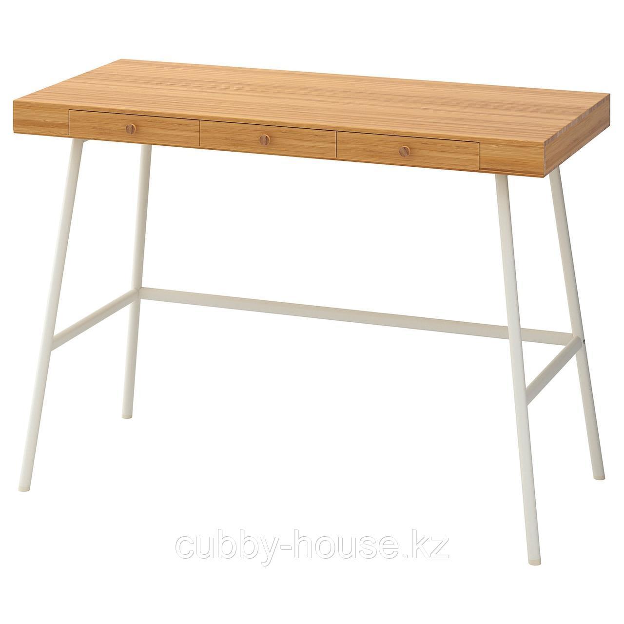 ЛИЛЛОСЕН Письменный стол, бамбук, 102x49 см