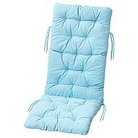 КУДДАРНА Подушка на садовую мебель, голубой, 116x45 см