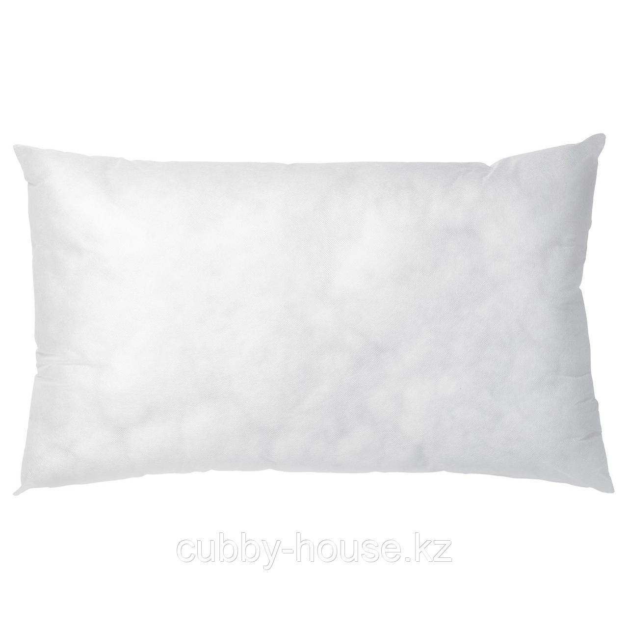 ИННЕР Подушка, белый, 40x65 см