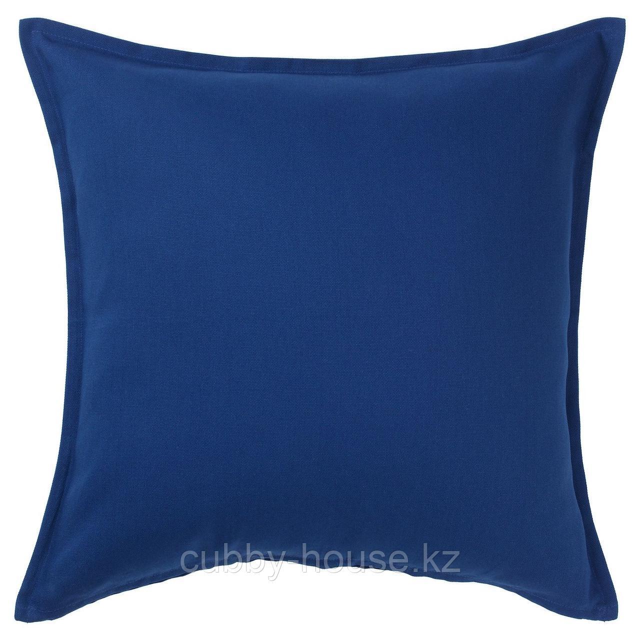 ГУРЛИ Чехол на подушку, темно-синий, 50x50 см