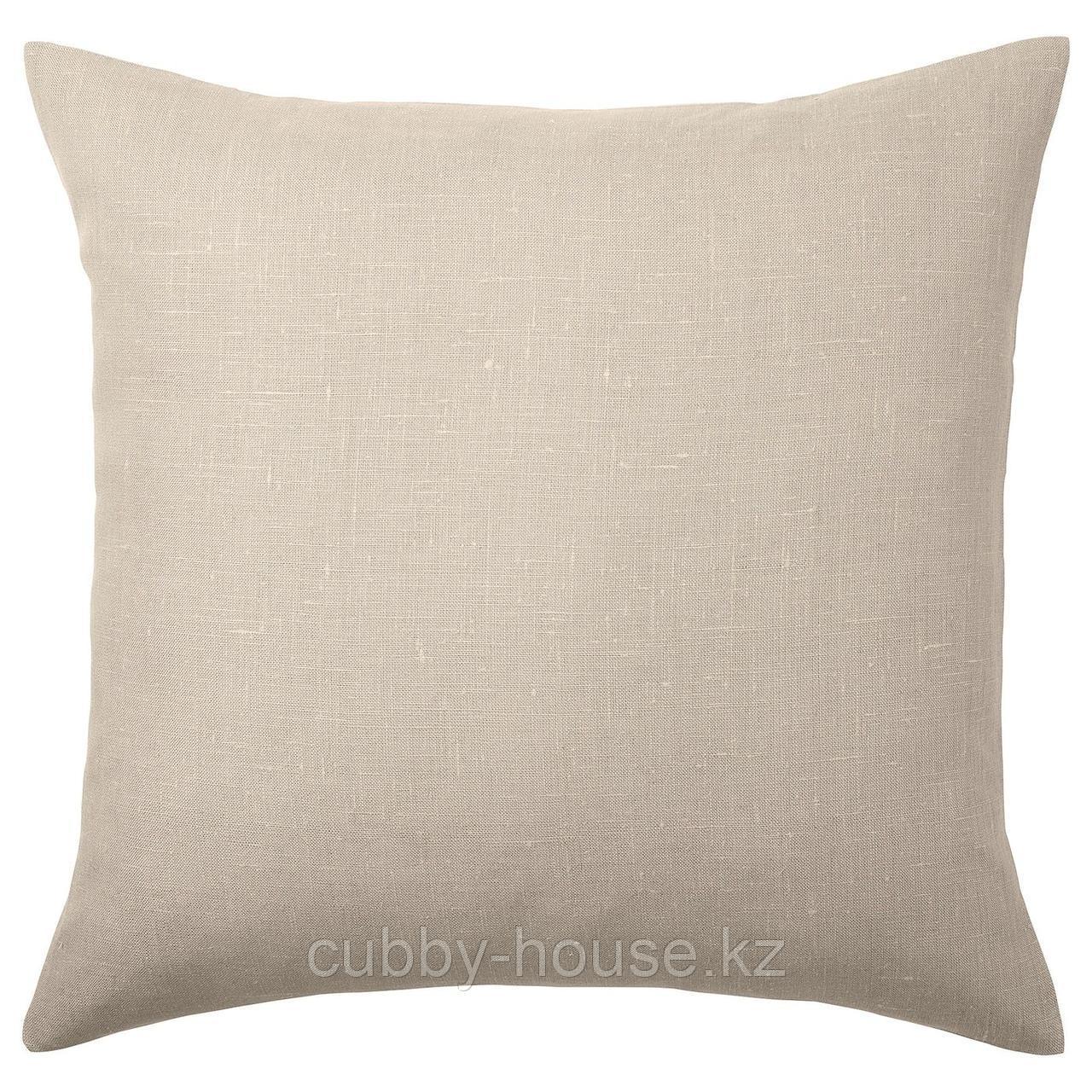 АЙНА Чехол на подушку, бежевый, 50x50 см