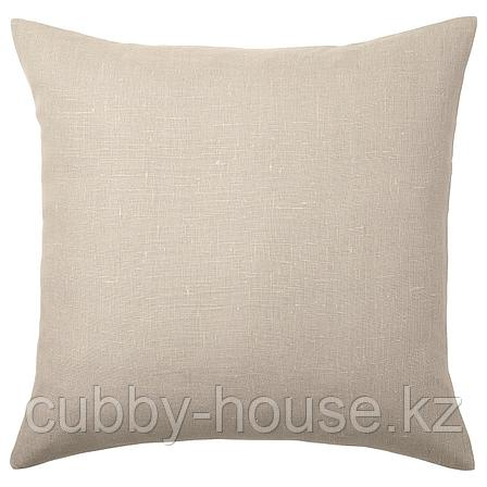 АЙНА Чехол на подушку, бежевый, 50x50 см, фото 2