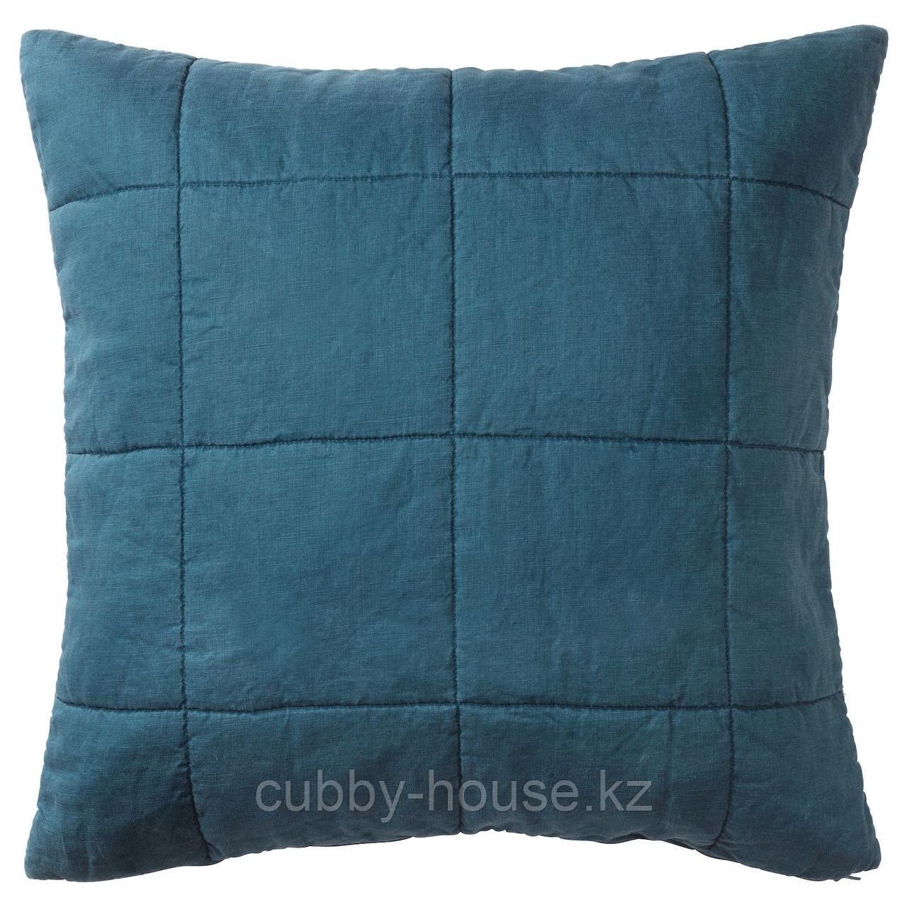 ГУЛЬВЕД Чехол на подушку, темно-синий, 65x65 см