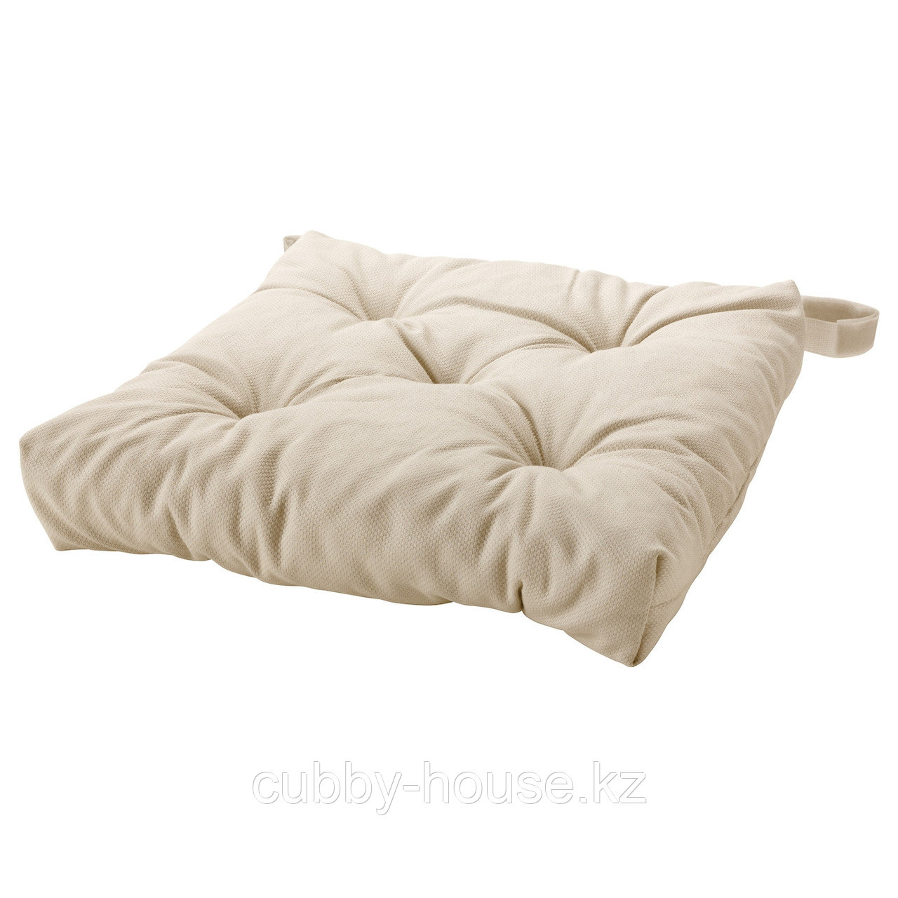 МАЛИНДА Подушка на стул, светло-бежевый, 40/35x38x7 см - фото 1