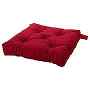 МАЛИНДА Подушка на стул, красный, 40/35x38x7 см