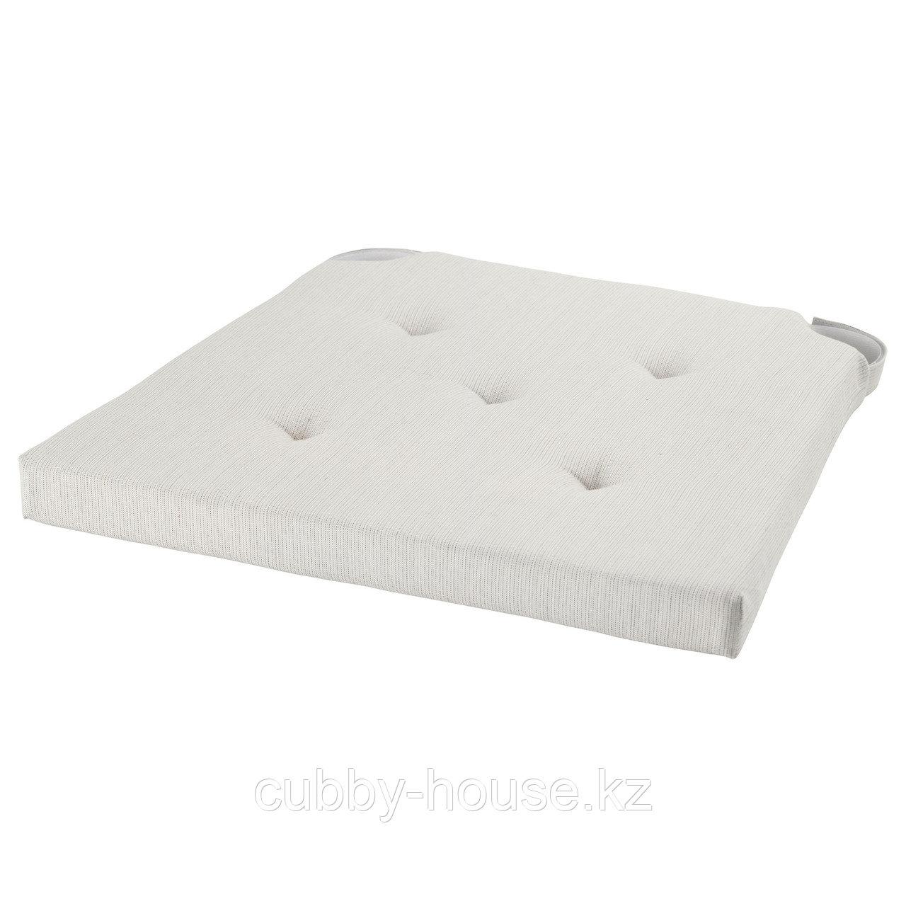 ЮСТИНА Подушка на стул, неокрашенный, 35/42x40x4.0 см