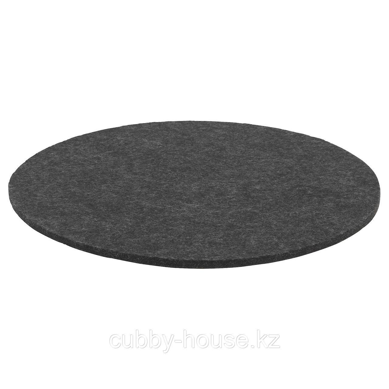 ОДДБЬЁРГ Подушка на стул, серый, 35 см
