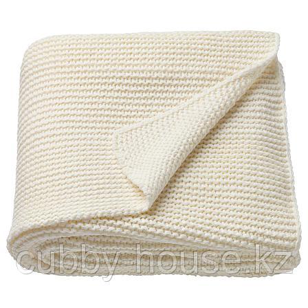 ИГАБРИТТА Плед, белый с оттенком, 130x170 см, фото 2