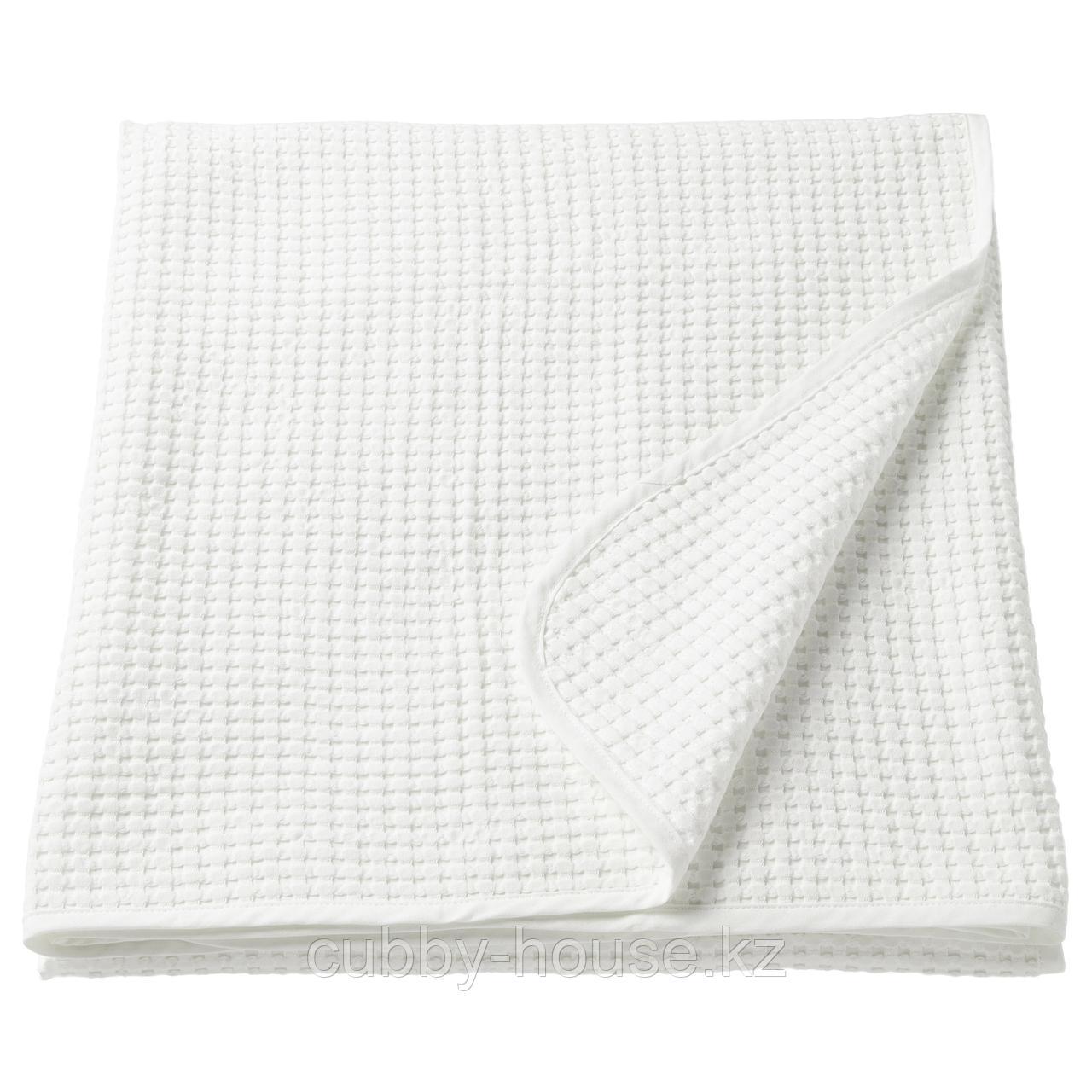 ВОРЕЛЬД Покрывало, белый, 230x250 см