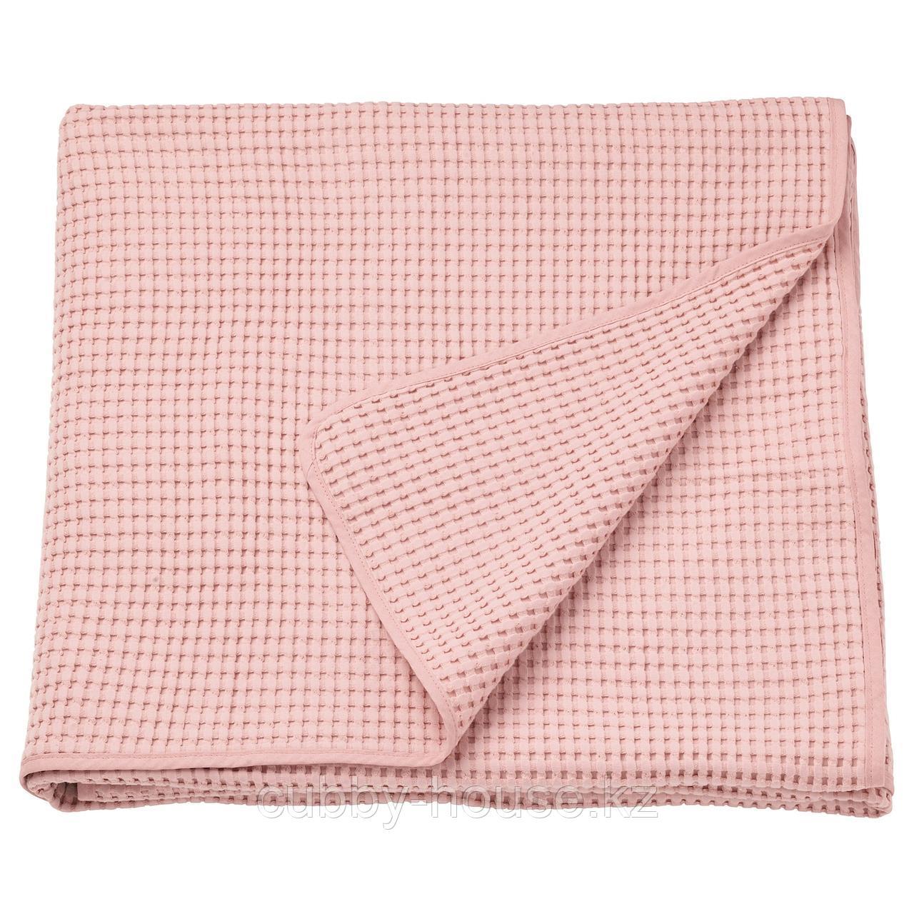 ВОРЕЛЬД Покрывало, светло-розовый, 230x250 см