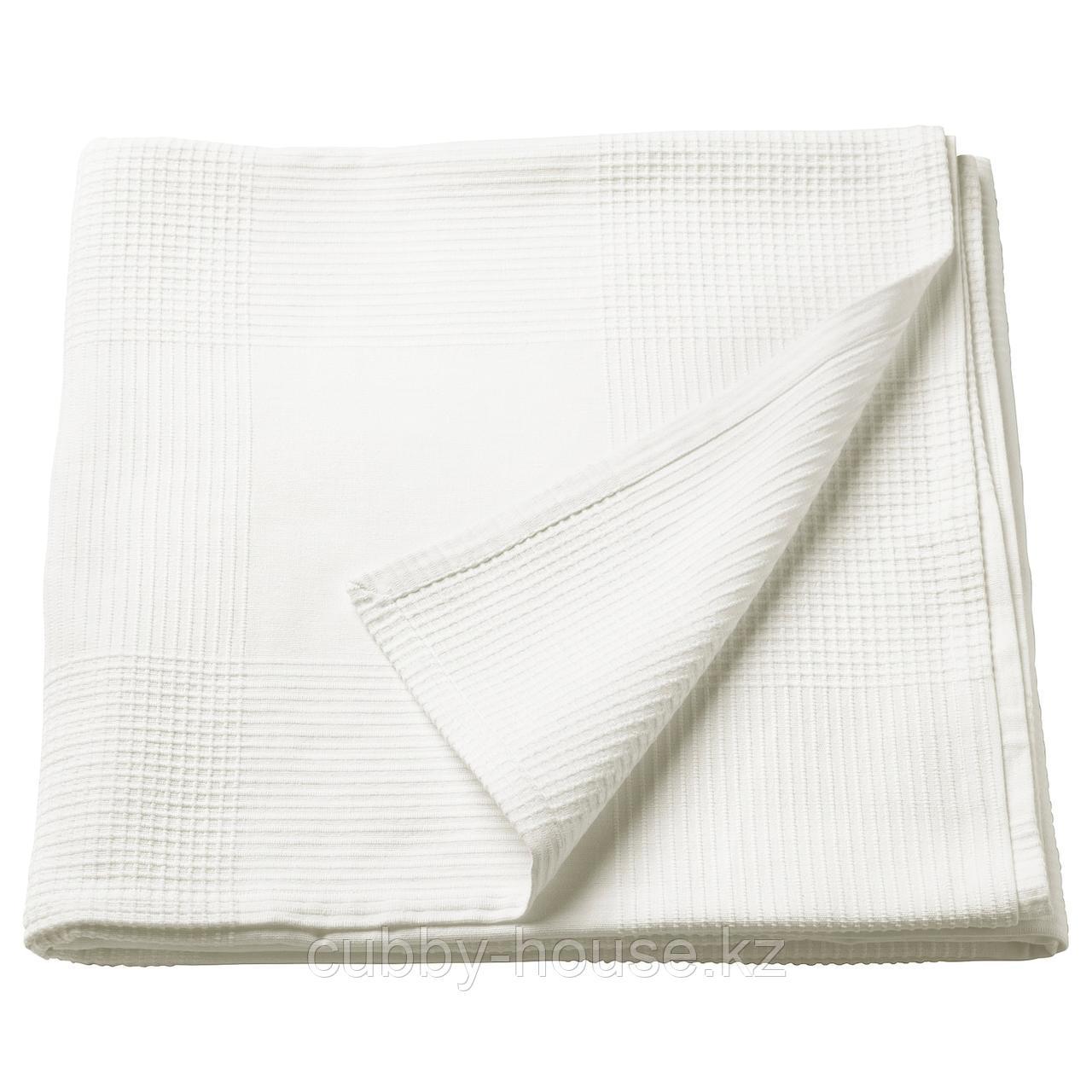 ИНДИРА Покрывало, белый, 230x250 см