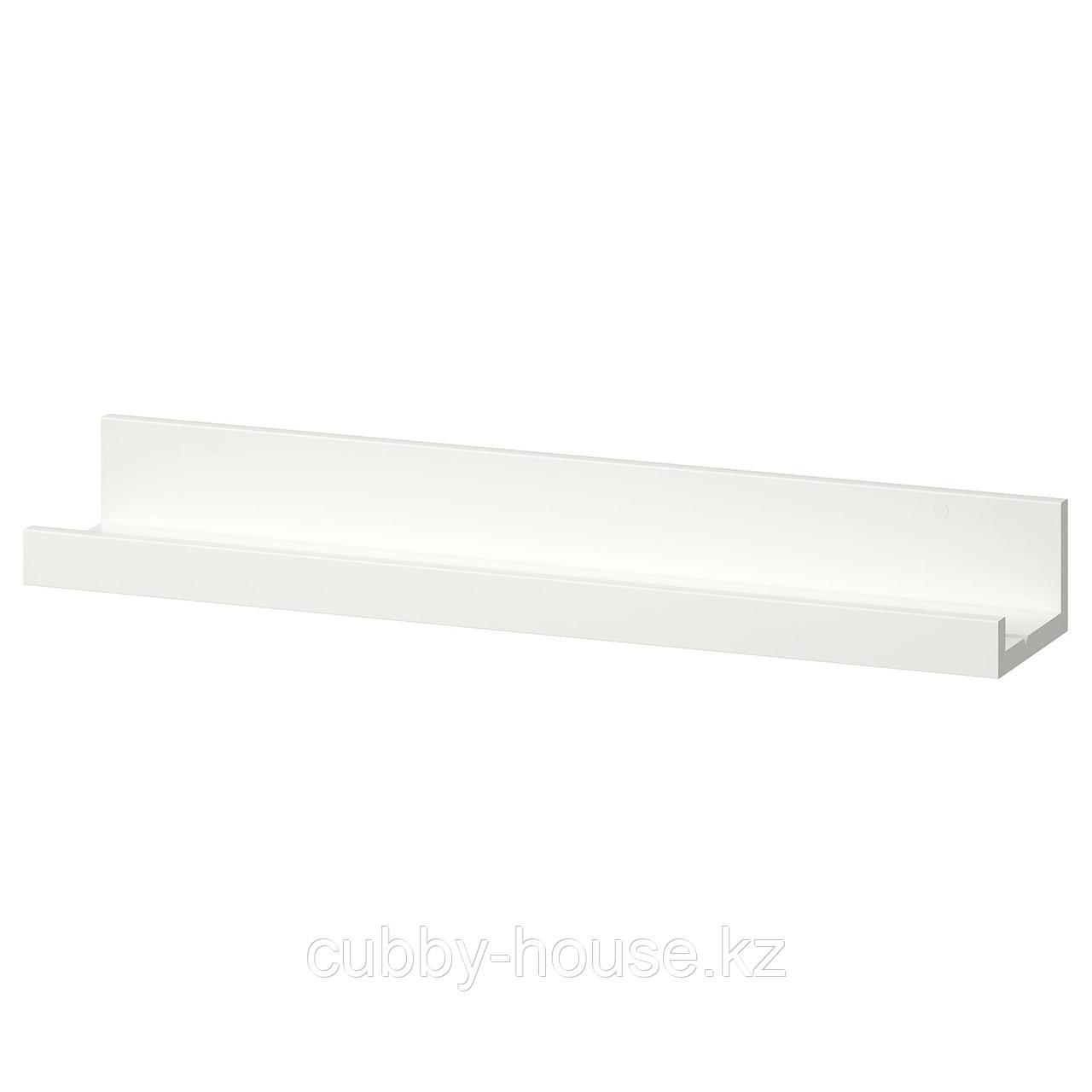 МОССЛЭНДА Полка для картин, белый, 55 см