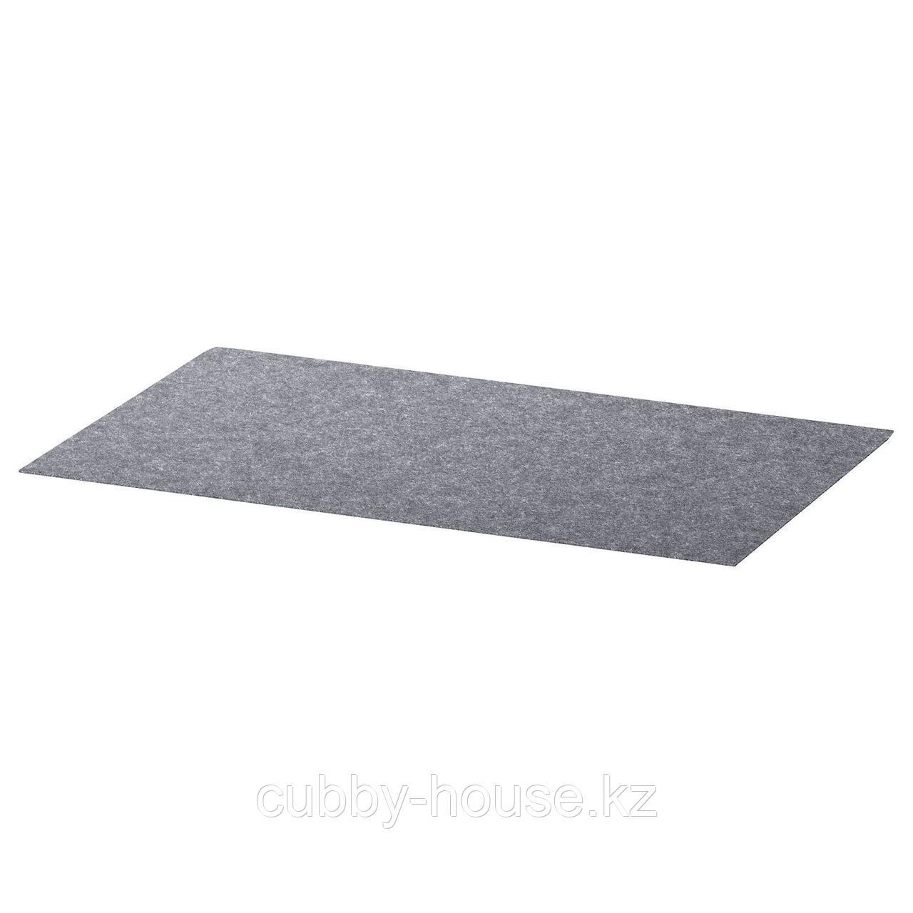 БЕСТО Коврик в ящик, серый, 32x51 см