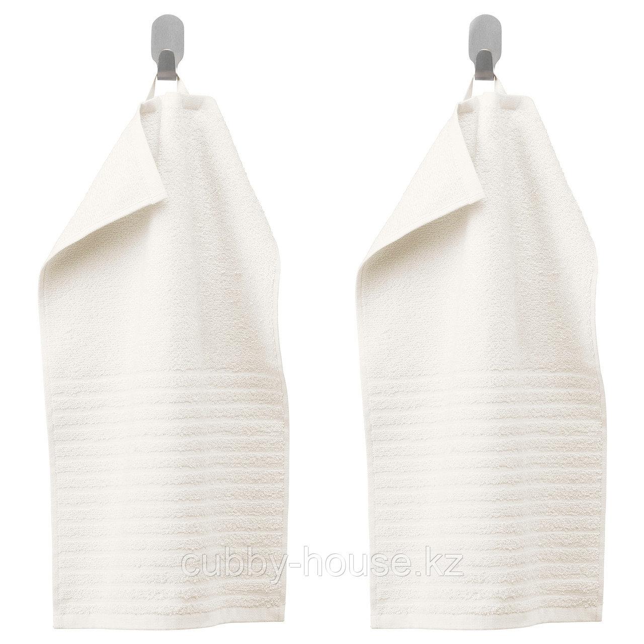 ВОГШЁН Полотенце, белый, 30x50 см