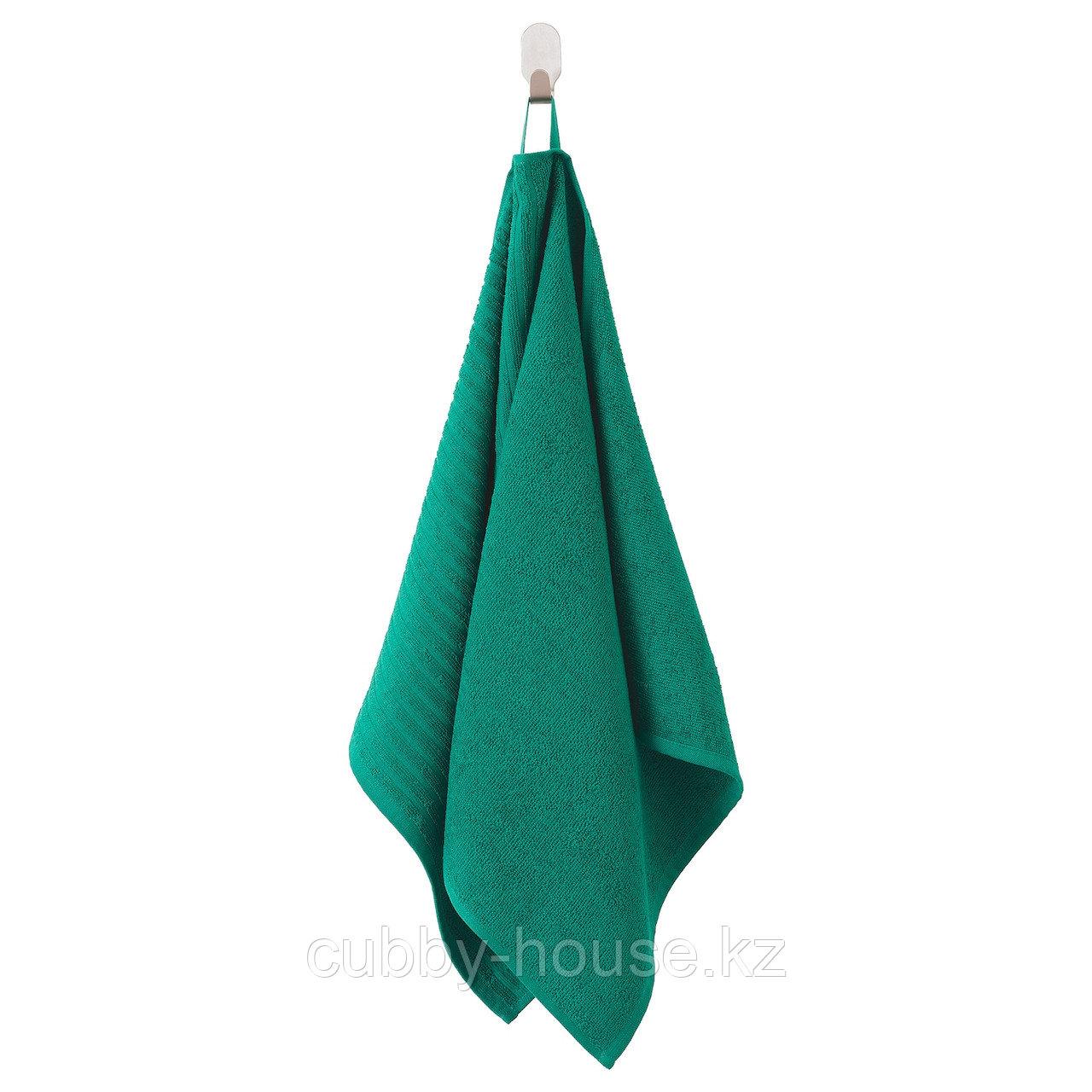 ВОГШЁН Полотенце, темно-зеленый, 50x100 см